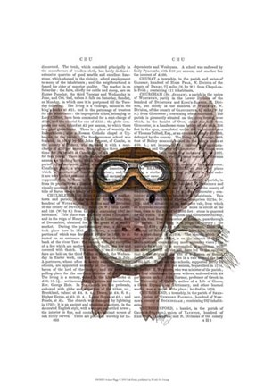 Framed Aviator Piggy I Print