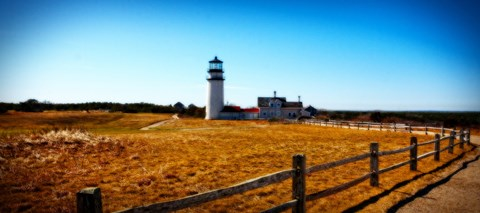 Framed Highland Lighthouse Cape Cod MA Print