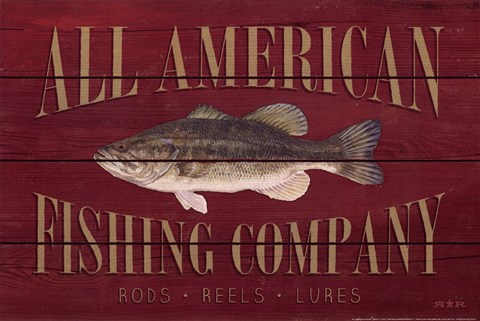 Framed All American Fishing Print