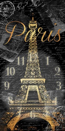 Framed Paris Eiffel Time Print