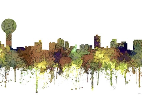 Knoxville Tennessee Skyline Safari Buff Art by Marlene Watson at ...