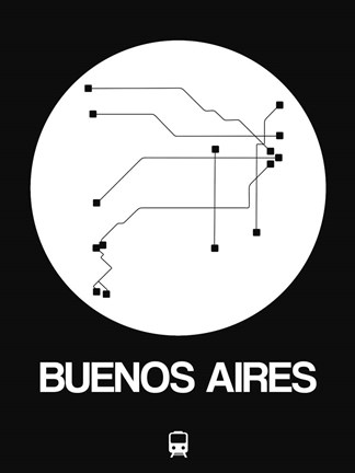 Black White Subway Map.Buenos Aires White Subway Map By Naxart