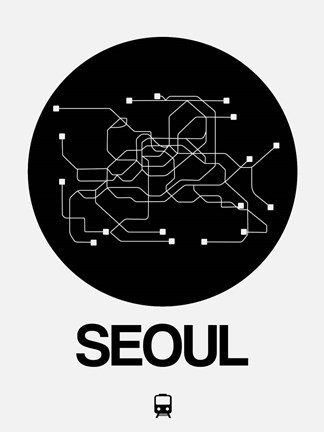 Black White Subway Map.Seoul Black Subway Map By Naxart