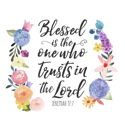 Floral Bible Verse I Art By Noonday Design At Framedart