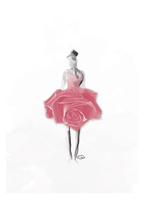 Rose Ballerina Artwork by OnRei at FramedArt.com