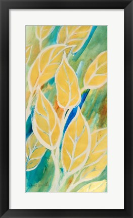 Framed Swaying Leaves I Print