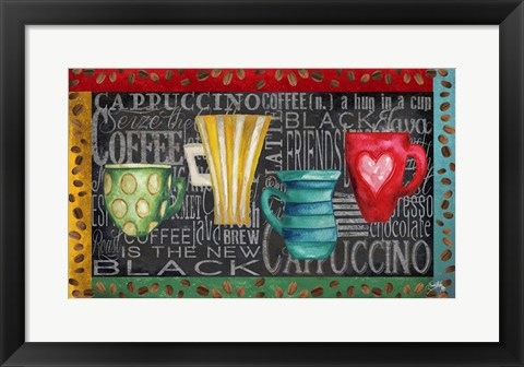 Framed Coffee of the Day Print