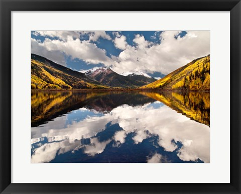 Framed Fall Reflections On Crystal Lake Print