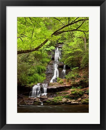 Framed Tom Branch Falls, North Carolina Print