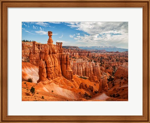 Framed Thor's Hammer At Bryce Canyon National Park Print