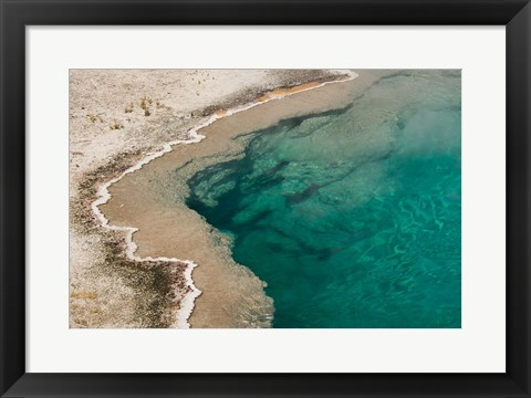 Framed Black Pool, West Thumb Geyser Basin, Wyoming Print