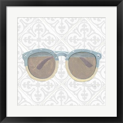 Framed Must Have Fashion I Gray White Print