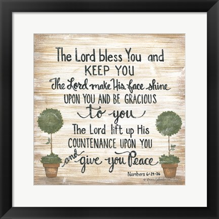 Framed Lord Bless You Print