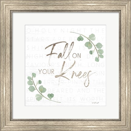 Framed Fall on Your Knees Print