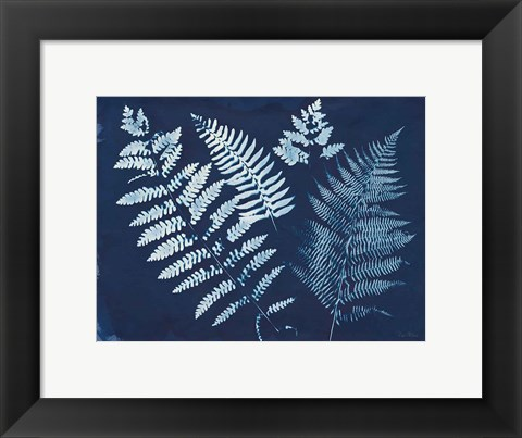 Framed Nature By The Lake - Ferns II Print
