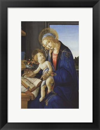 Framed Madonna of the Book, 1480 Print