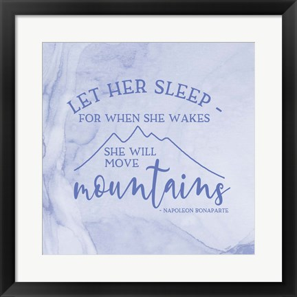 Framed Girl Inspired- Move Mountains Print