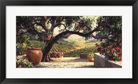 Framed Napa Patio Print