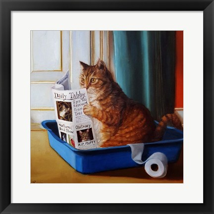 Framed Kitty Throne Print