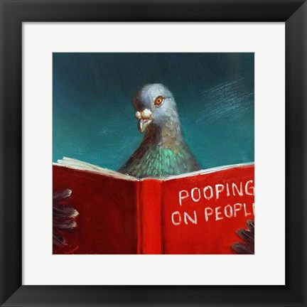 Framed Pooping on People Print