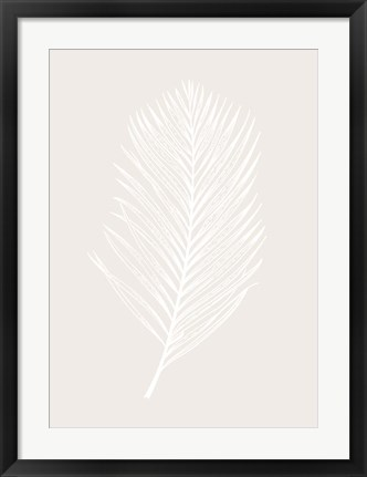Framed White Leaf Print