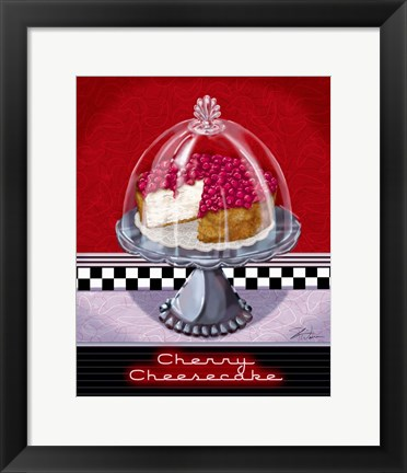 Framed Cherry Cheesecake Print