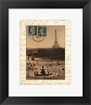 Framed Paris En Flanant Print