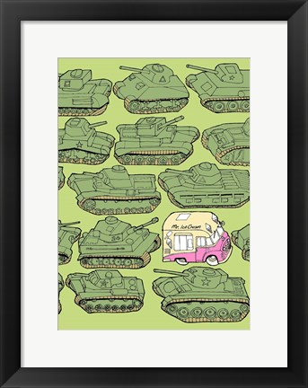 Framed Odd Ones - Ice Cream Print