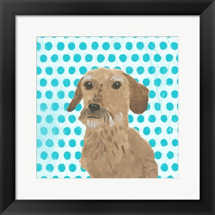 Framed Parlor Pooches VI Print