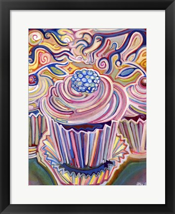 Framed Cupcakes in The Sunshine Print