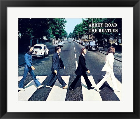 Framed Beatles Abbey Road Print