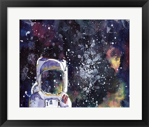 Framed Night Sky I Print