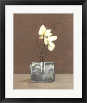 Framed Orchids with Curly Willow Print