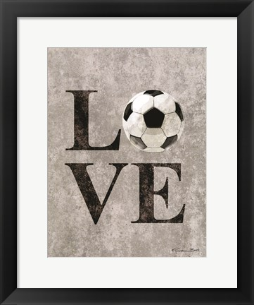 Framed LOVE Soccer Print
