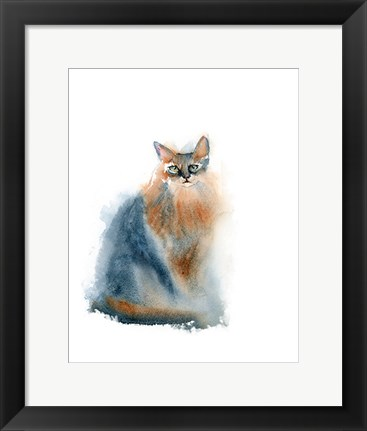 Framed Ginger Cat II Print