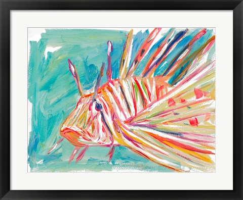 Framed Colorful Fish Print
