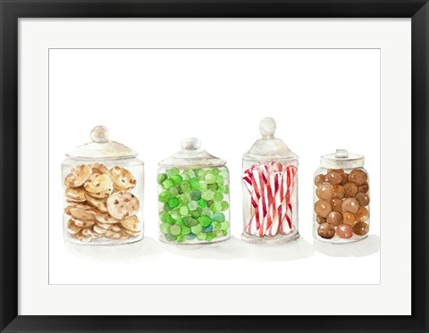 Framed Holiday Candy I Print