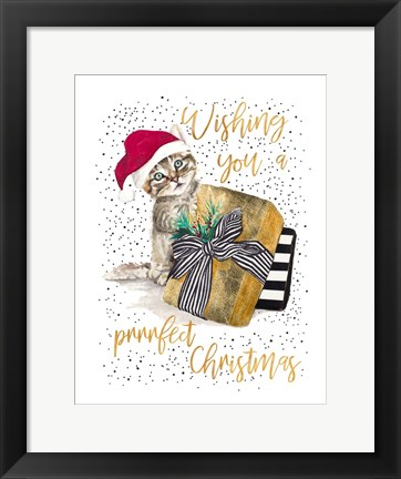Framed Wishing You A Prrrfect Christmas Print