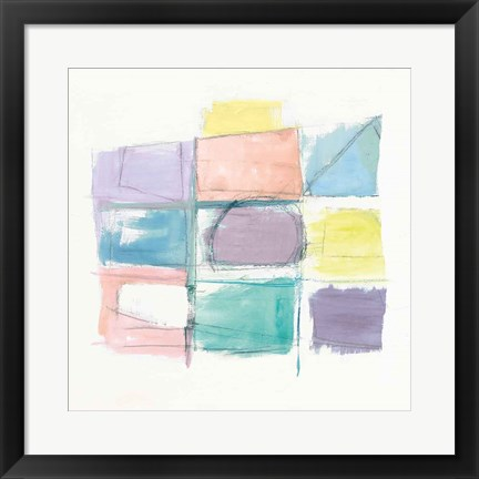 Framed 131 West 3rd Street Sq III on White Pastel Print