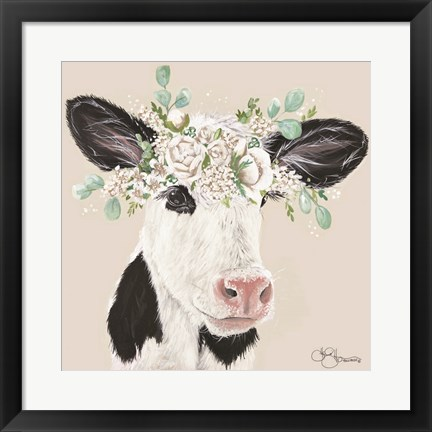 Framed Patience the Cow Print