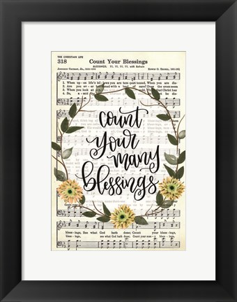 Framed Count Your Many Blessings Print
