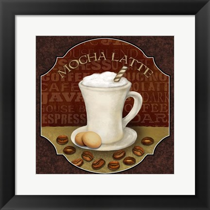 Framed Coffee Illustration I Print