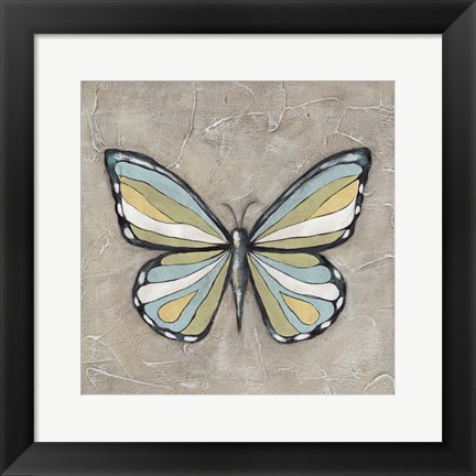 Framed Graphic Spring Butterfly II Print