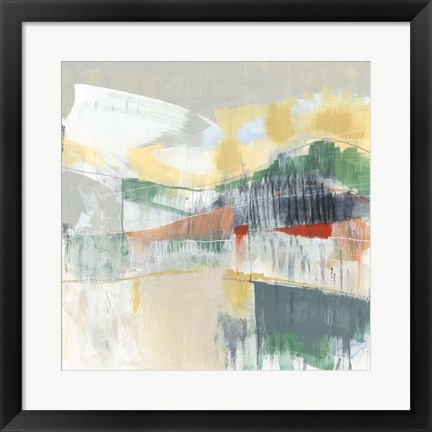 Framed Abstracted Mountainscape II Print