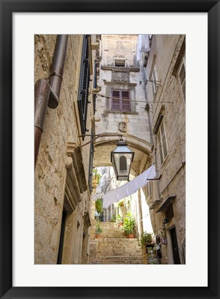 Framed Laundry Day - Dubrovnik, Croatia Print