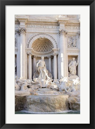 Framed Trevi Fountain in Afternoon Light I Print
