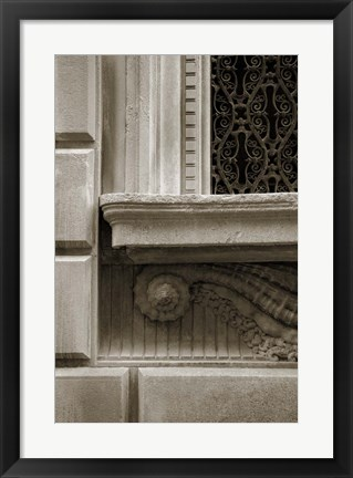 Framed Architecture Detail in Sepia I Print
