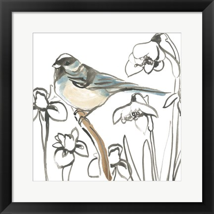 Framed Songbird Meadow II Print