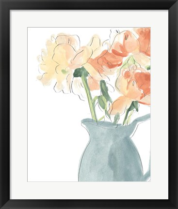 Framed Soft Posy Sketch III Print