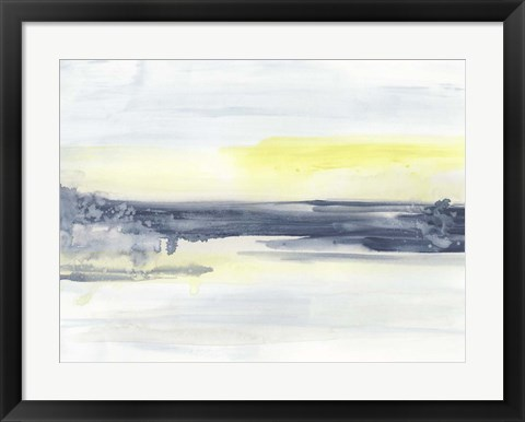 Framed Citron Sea Horizon II Print